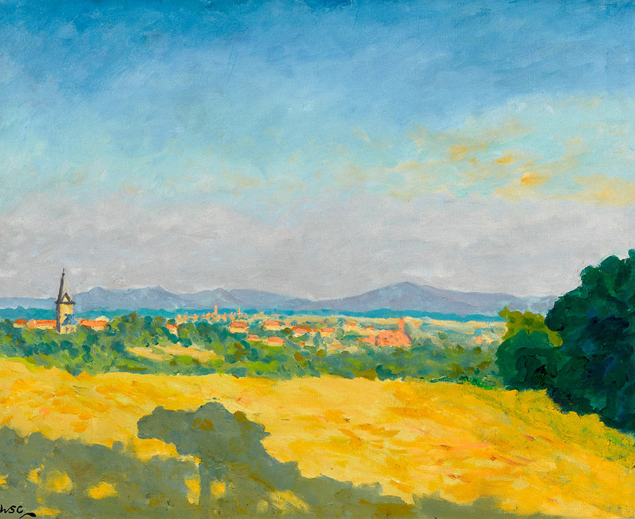 A Distant View of a Town in the South of France by Winston Churchill