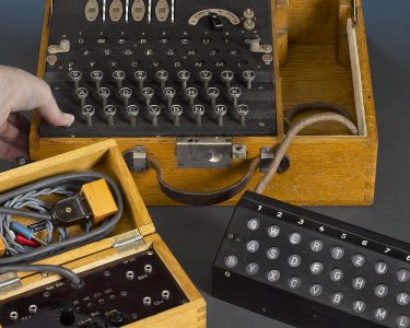 The Enigma K, with its additional lamp panel and power supply.