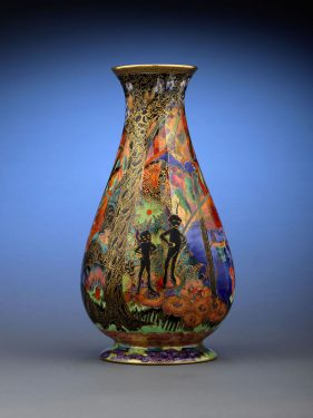 Wedgwood Fairyland Lustre Imps on a Bridge Vase