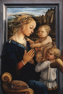 Fra Filippo Lippi, Madonna and Child with two Angles, circa 1460