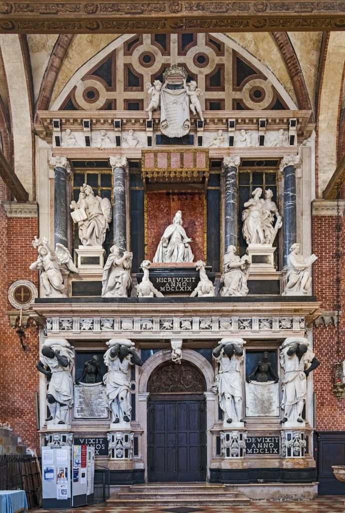 The Tomb of Doge Giovanni Pesaro in the Frari church, Venice.