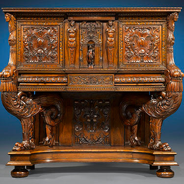 Francis I Renaissance Sideboard at M.S. Rau Antiques. Today, the pair to this dressoir is a prized possession of the famed Frick Collection in New York, and the third, similar yet smaller cabinet was found in the Victoria and Albert Museum in London.