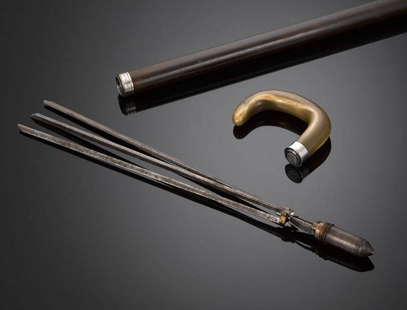 This remarkably rare walking stick doubles as a practical tool for the professional geometer