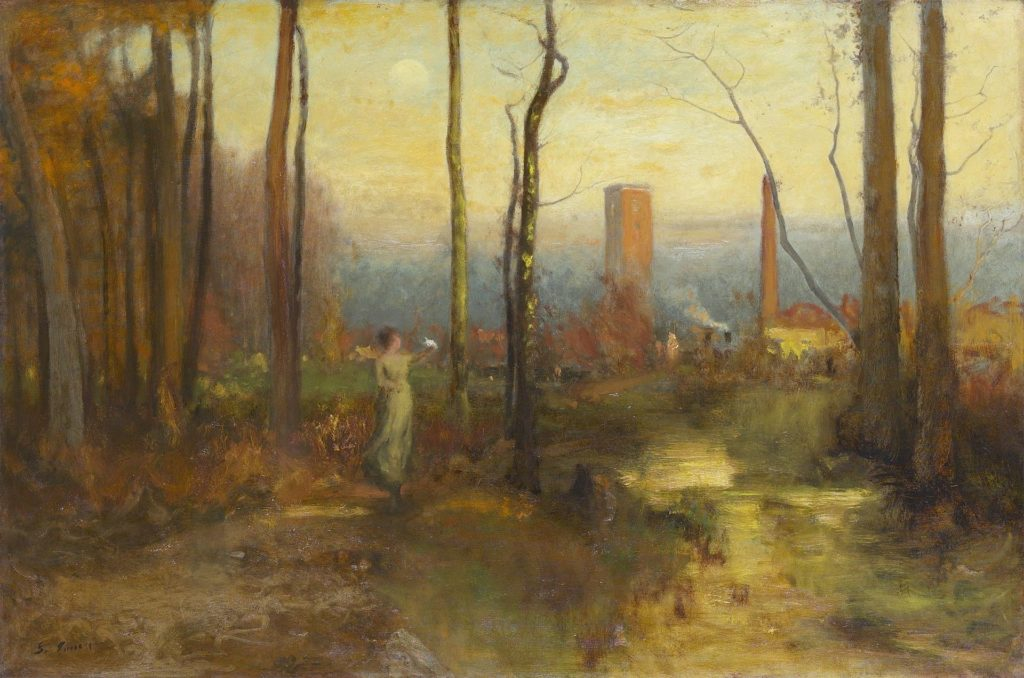 The Mill Stream, Montclair, New Jersey by George Inness