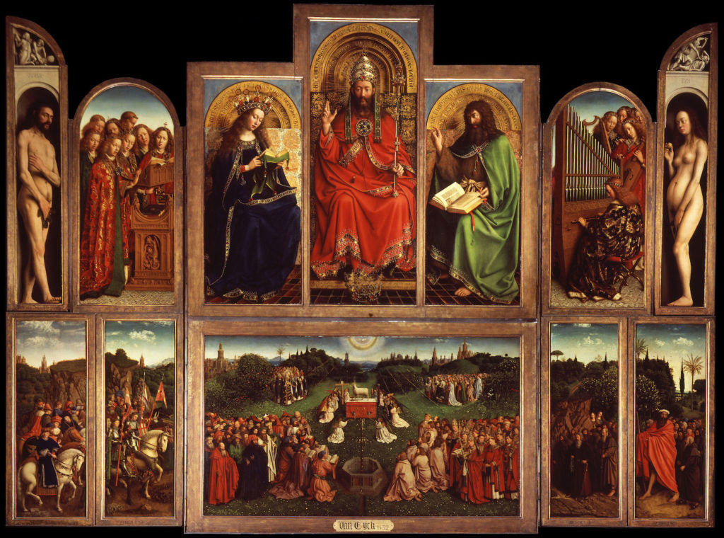 The Ghent Altarpiece completed in 1432 by Jan van Eyck