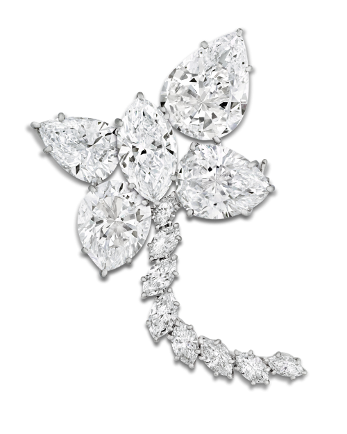 Harry Winston Diamond Brooch By Jaques Timey