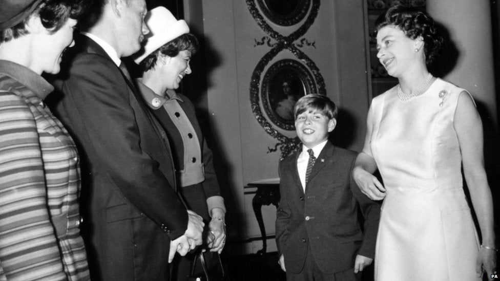 Neil and Janet Armstrong meeting Queen Elizabeth II.