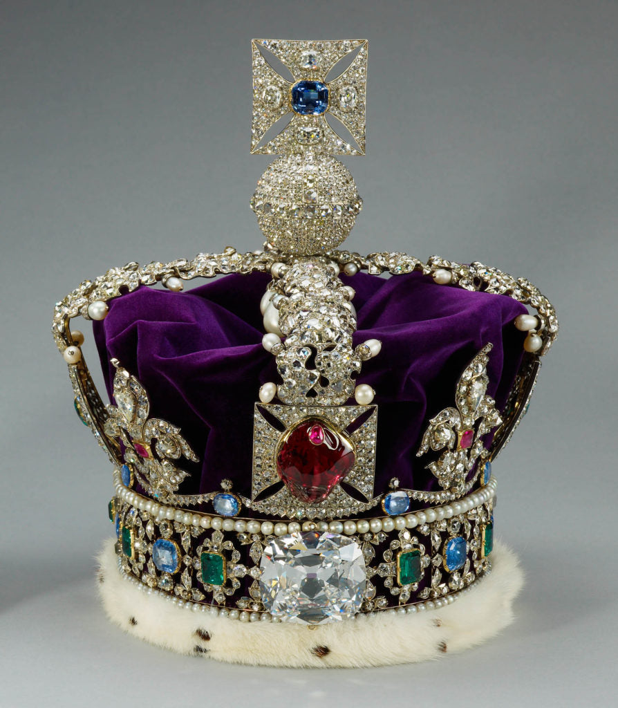 The Black Prince's Ruby is set within the British Imperial State Crown.