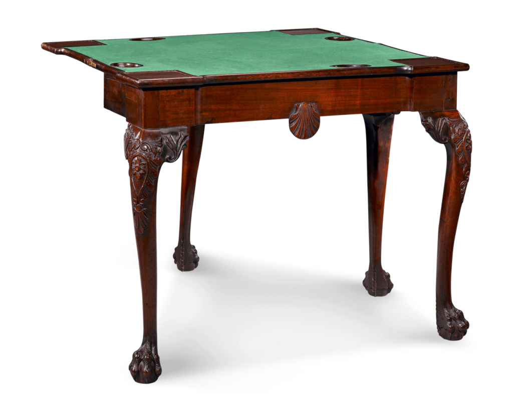 Objects crafted of wood, such as this beautiful Irish Games Table, symbolize strength and loyalty.