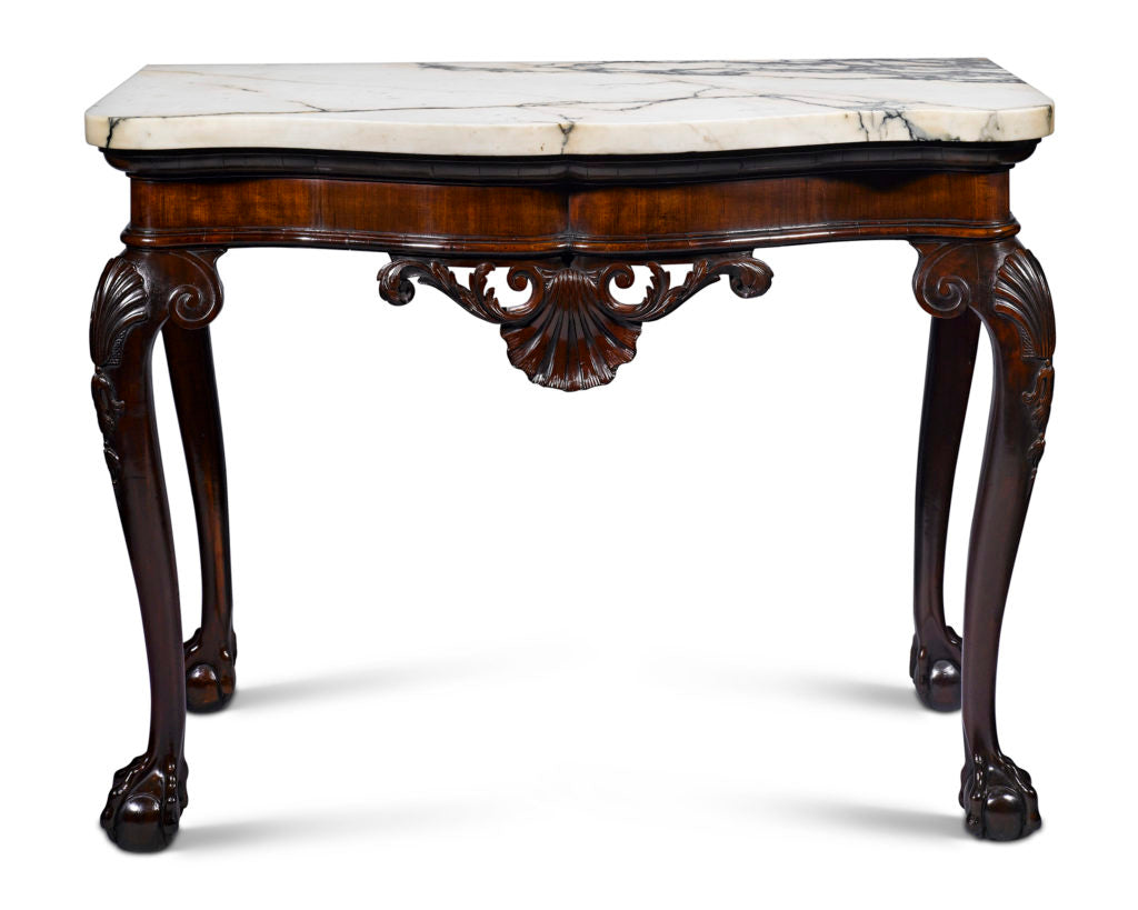 this exceptional George II-period side table beautifully illustrates the very best of Irish craftsmanship.