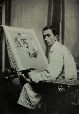 Leyendecker in his studio.