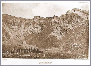 The Kashmir sapphire mines. From a photograph by T.D. LaTouche.