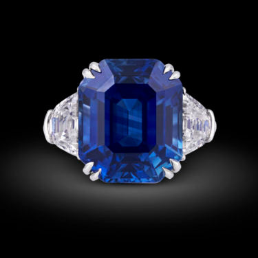 Untreated Kashmir Sapphire Ring, 18.50 Carats