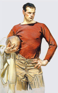 Sketch of a football player, circa 1912