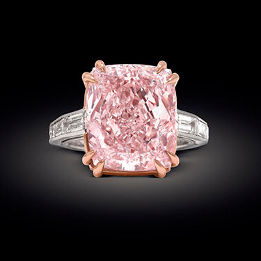 The Majestic Pink Diamond, a GIA-certified 12.27-carat Natural Fancy Pink Diamond, Type IIa with VVSI clarity.