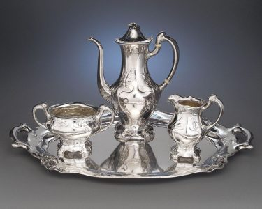 Exceptionally rare  Martelé silver coffee service.  According to factory records, required an amazing 356 hours to craft.