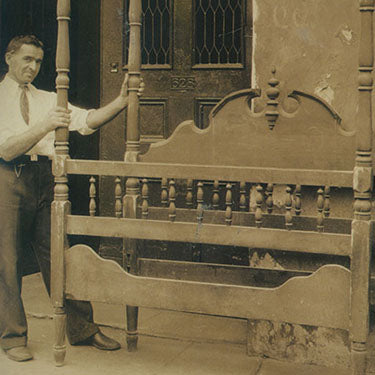 Bill Rau's grandfather, Max, in the early days of M.S. Rau Antiques.
