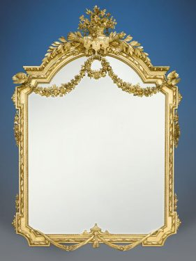 This Napoleon III Giltwood Mirror is an exceptional example of Second Empire grandeur. Circa 1870