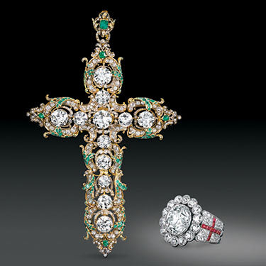 The Pope VI Diamond Cross and Ring
