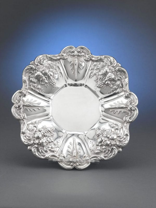 A sterling silver plate in the Francis I pattern by Reed and Barton