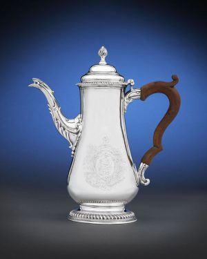 Silver Coffee Pot by Paul Revere. This is one of only 15 the American patriot and silversmith ever made, and one of only 3 he crafted prior to the American Revolution.