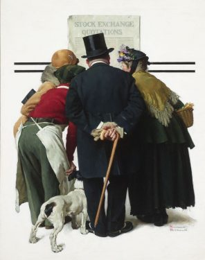 The Common Touch (Stock Exchange Quotations) by Norman Rockwell