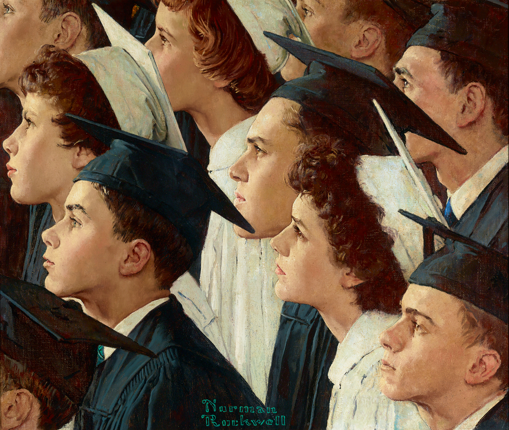 A Bright Future for Banking by Norman Rockwell