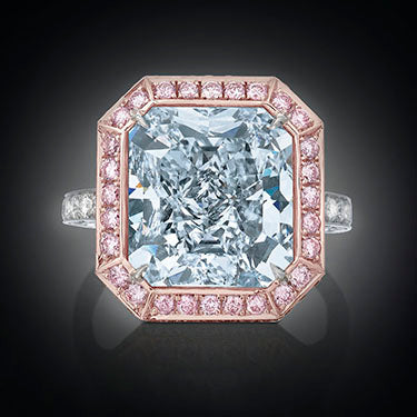 The Royal Blue Diamond, a natural fancy blue diamond weighing 10.06 carats. Due to it's rarity, blue diamonds cost 10 to 50 times as much as a comparable colorless diamond.