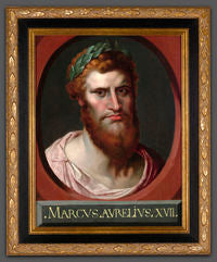 This portrait of Emperor Marcus Aurelius by Peter Paul Rubens dates to his days as a student in Antwerp. It is a rare glimpse into the artist's early work, circa 1600.