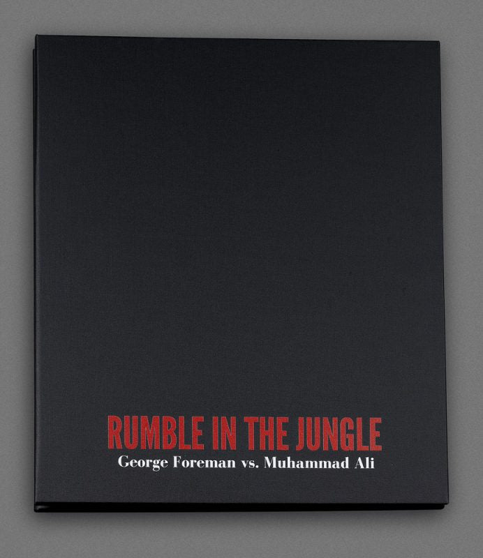 The Rumble in the Jungle boxing contracts are housed in a customized, hard cover portfolio