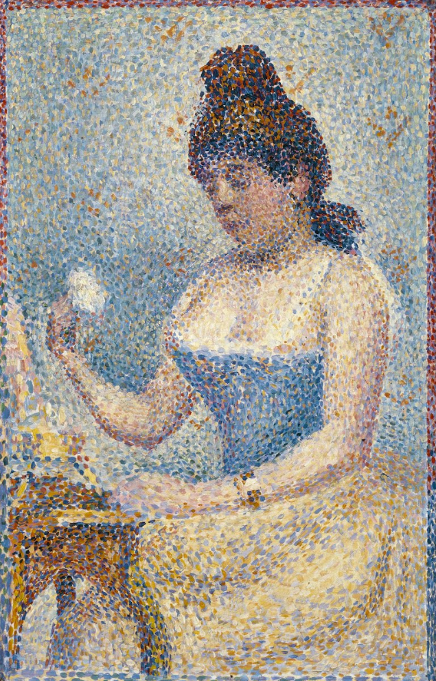 Young Woman Powdering Herself by Georges Seurat. 1889. Museum of Fine Arts, Houston