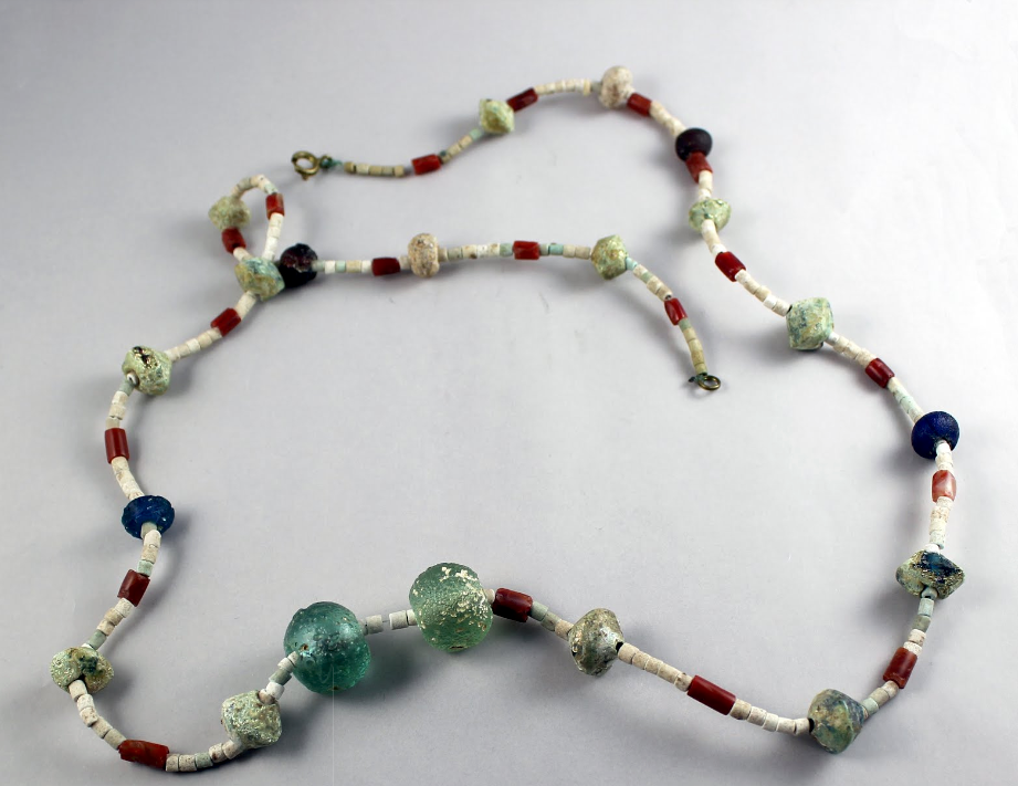 Ancient glass beads. 775 BC. Bergstrom-Mahler Museum of Glass