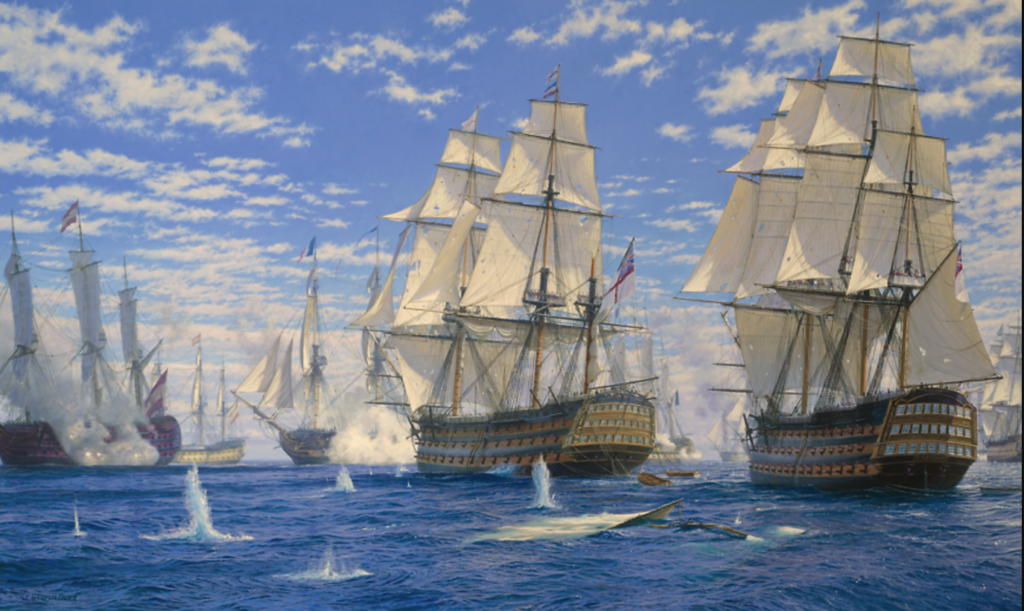 Battle of Trafalgar by John Steven Dews
