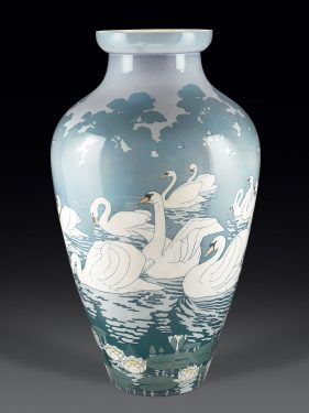 This exquisite vase was made and exhibited by Sevres at the 1900 Paris World Fair