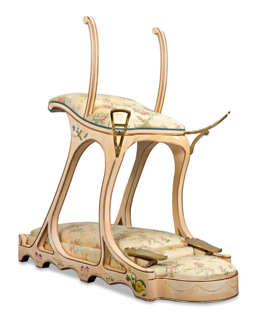 The Siège d'Amour or Seat of Love, was made for Edward VII's private room at the Parisian bordello Le Chabanais.