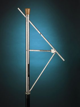 This elegant and unassuming walking stick doubles as a land surveyor's rod, helping to determine both depth and distance