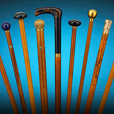 This remarkable collection of French walking sticks once belonged to Charles Maurice de Talleyrand-Périgord, the Prince de Bénévent and the Château de Valençay