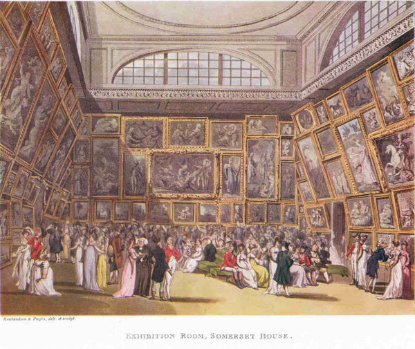 An early R.A. Summer Exhibition at the Academy's original home in Somerset House