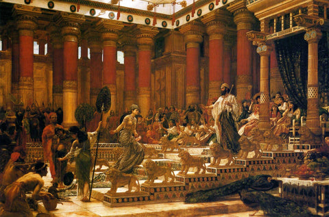King Solomon in front of his throne, receiving the Queen of Sheba by Edward Poynter, 1890 (Art Gallery of New South Wales)