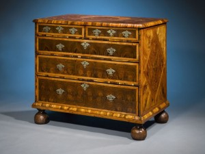 William and Mary Oysterwood Chest