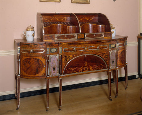 American Federalist sideboard featuring wood inlay from the MET