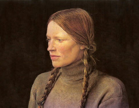 Braids (1979), portrait of Helga Testorf by Andrew Wyeth