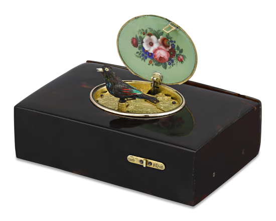 Freres Rochat Tortoiseshell Singing Bird Box