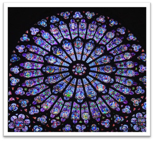 Stained Glass at Chartres Cathedral, France