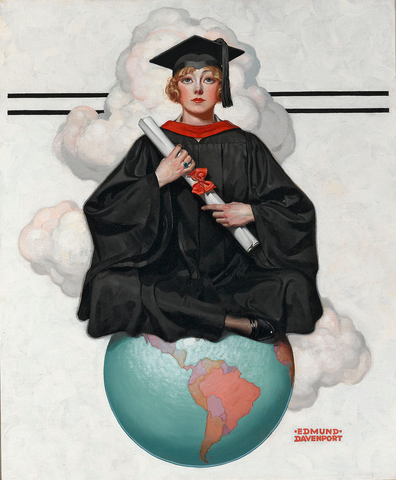 Graduate On Top of the World by Edmund Davenport, 1925