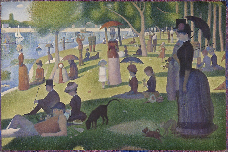 A Sunday on La Grande Jatte — 1884 by Georges Seurat. Art Institute of Chicago.