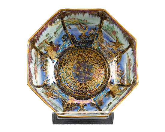 "Wedgwood ""Fairyland Lustre"" Octagonal Bowl"