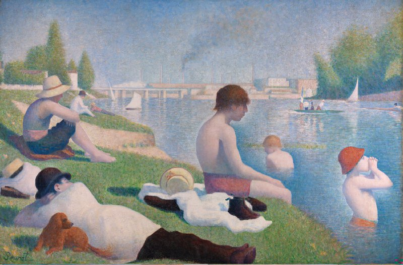 Bathers, Asnières by Georges Seurat. National Gallery, London.