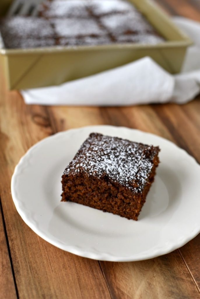Gingerbread cake made from a recipe dating to the 1600s.