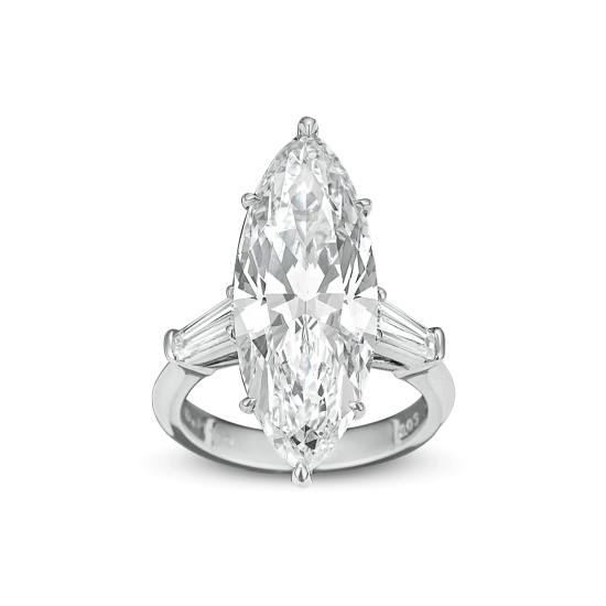Marquise-cut Golconda Diamond Ring, 8.03 Carats
